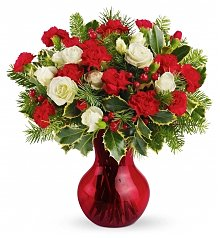 Roses: Yuletide Blossom Bouquet