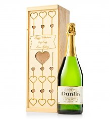 Personalized Wine Gifts: Valentine's Day Engraved Champagne Crate