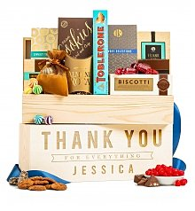 Personalized Keepsake Gifts: Gourmet Thanks Personalized Crate