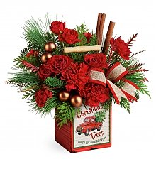Flower Bouquets: Merry Vintage Christmas Bouquet