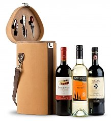 Wine Gifts: Wine Trio Travel Tote